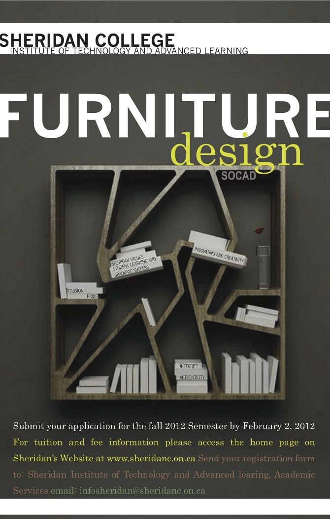 Furniture Design Poster graphic design - ashley eansor illustration
